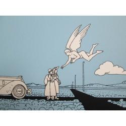 Moebius : sérigraphie, l'ange du carrefour.