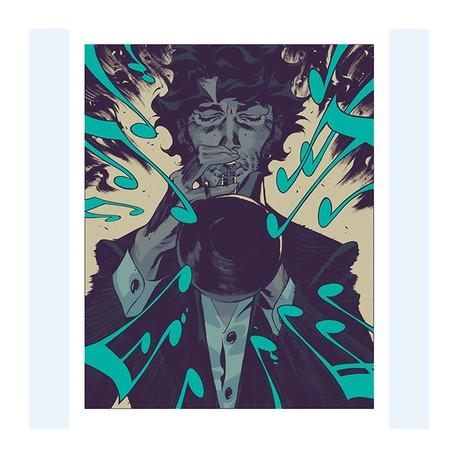 Ibanez Roger: Sérigraphie Jazz Maynard.