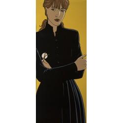 Juillard André: Sérigraphie la Dame en noir.