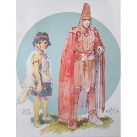 Miyazaki & Moebius: Affiche exposition Musée de la Monnaie 2004.