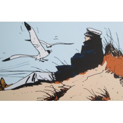 Leblon-Delienne: Plaque émaillée, Corto Maltese: Les Celtiques.