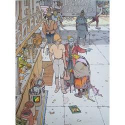 Moebius: Affiche Le Garage Hermétique.
