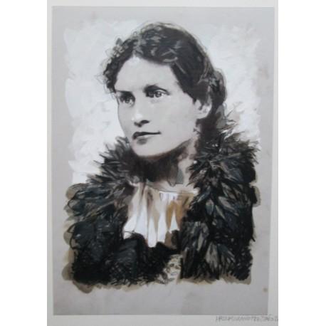 Frezzato Massimiliano : portrait n°2, dessin original.