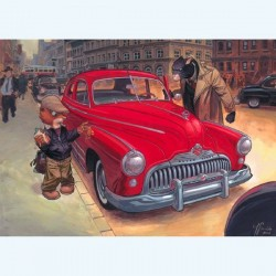 Guarnido & Diaz Canales : Blacksad, voiture rouge.